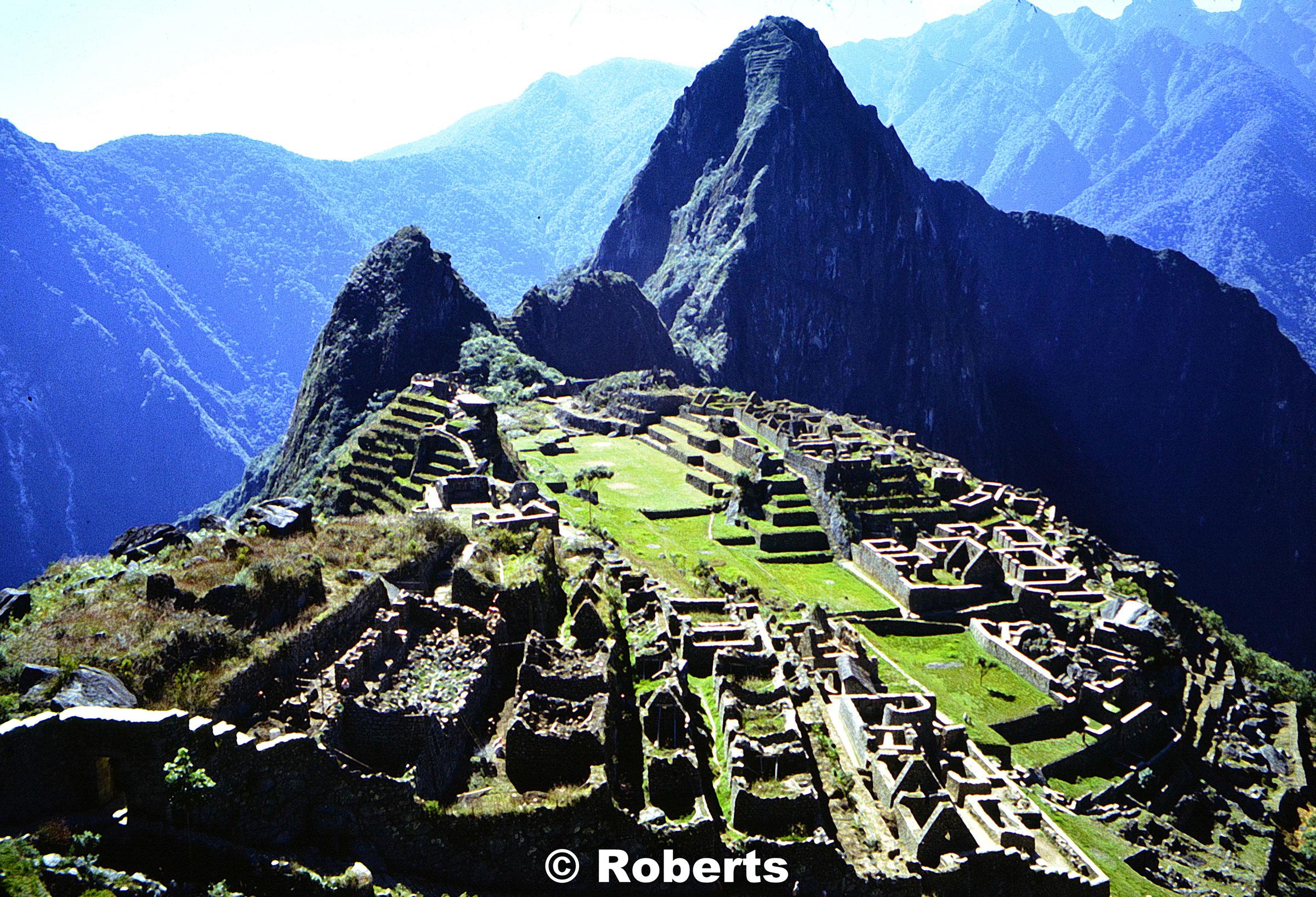 Machu Picchu archaeological site, Peru. June, 1977.