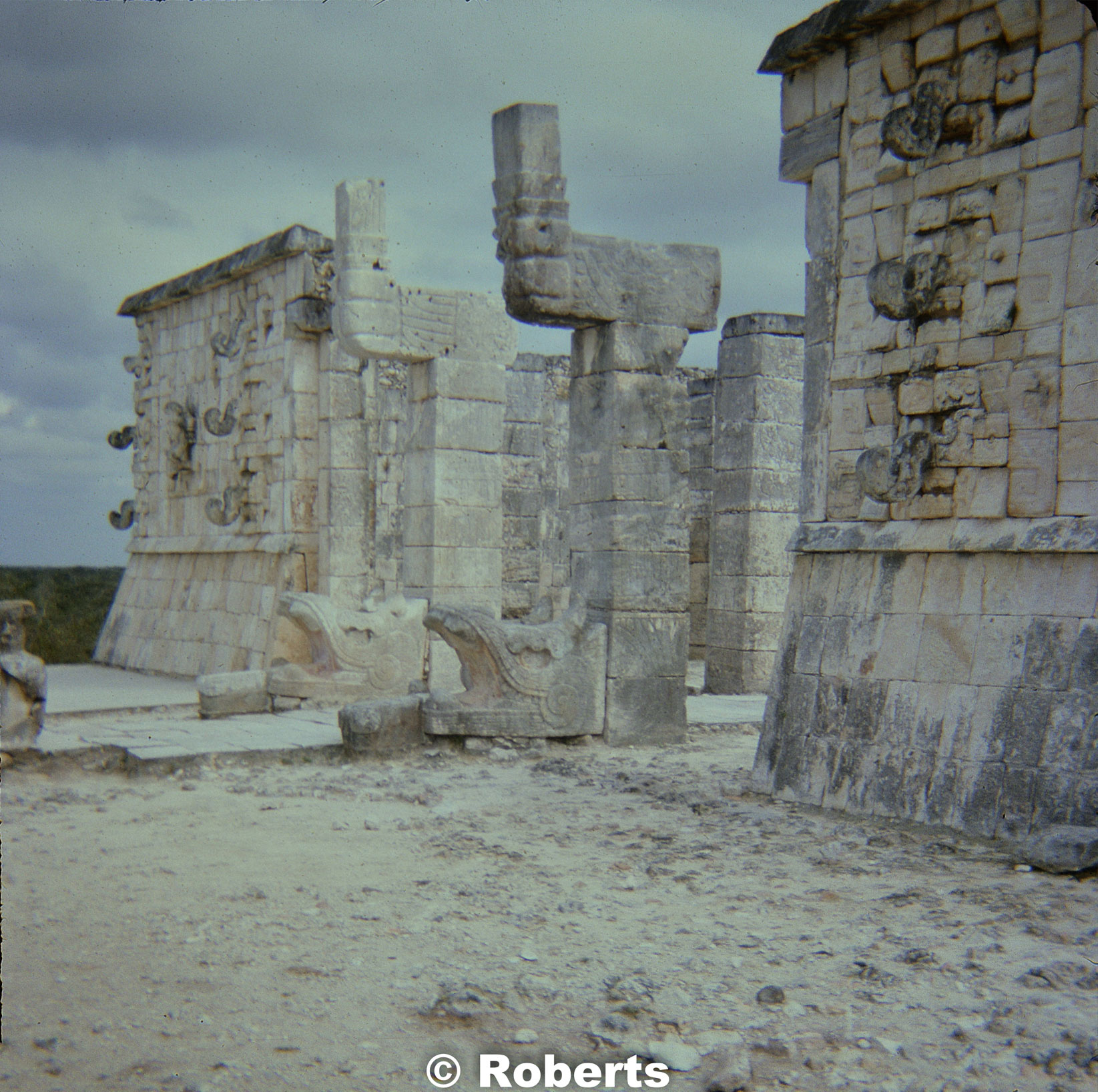 Temple of the Warriors, Chichen Itza, Mexico. January, 1975.