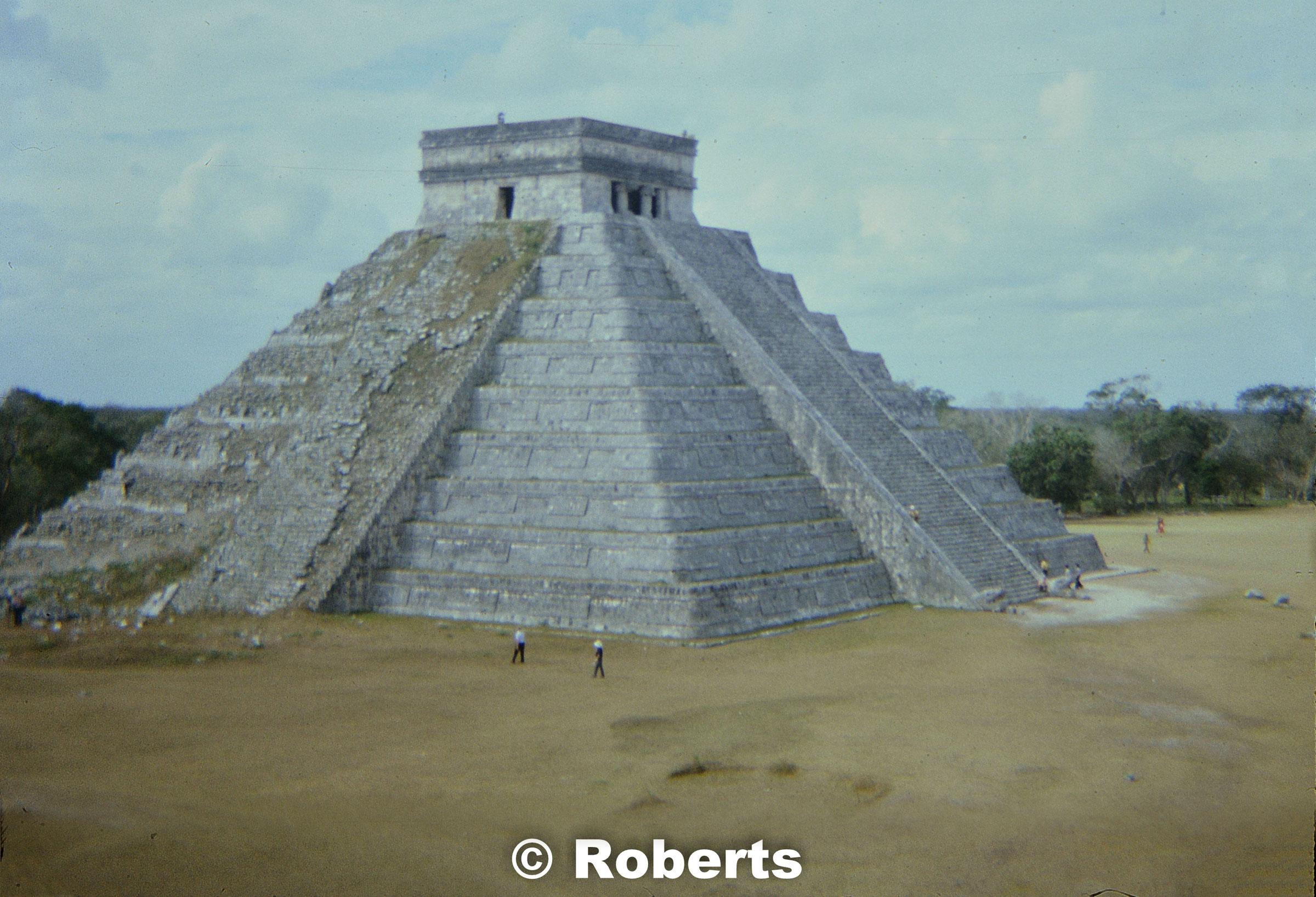 El Castillo, Chichen Itza, Mexico. January, 1975.