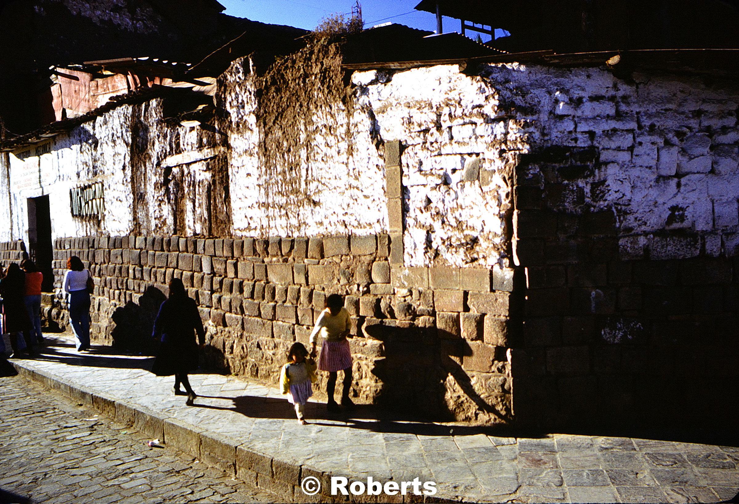Downtown Cusco, Cusco, Peru. June, 1977.