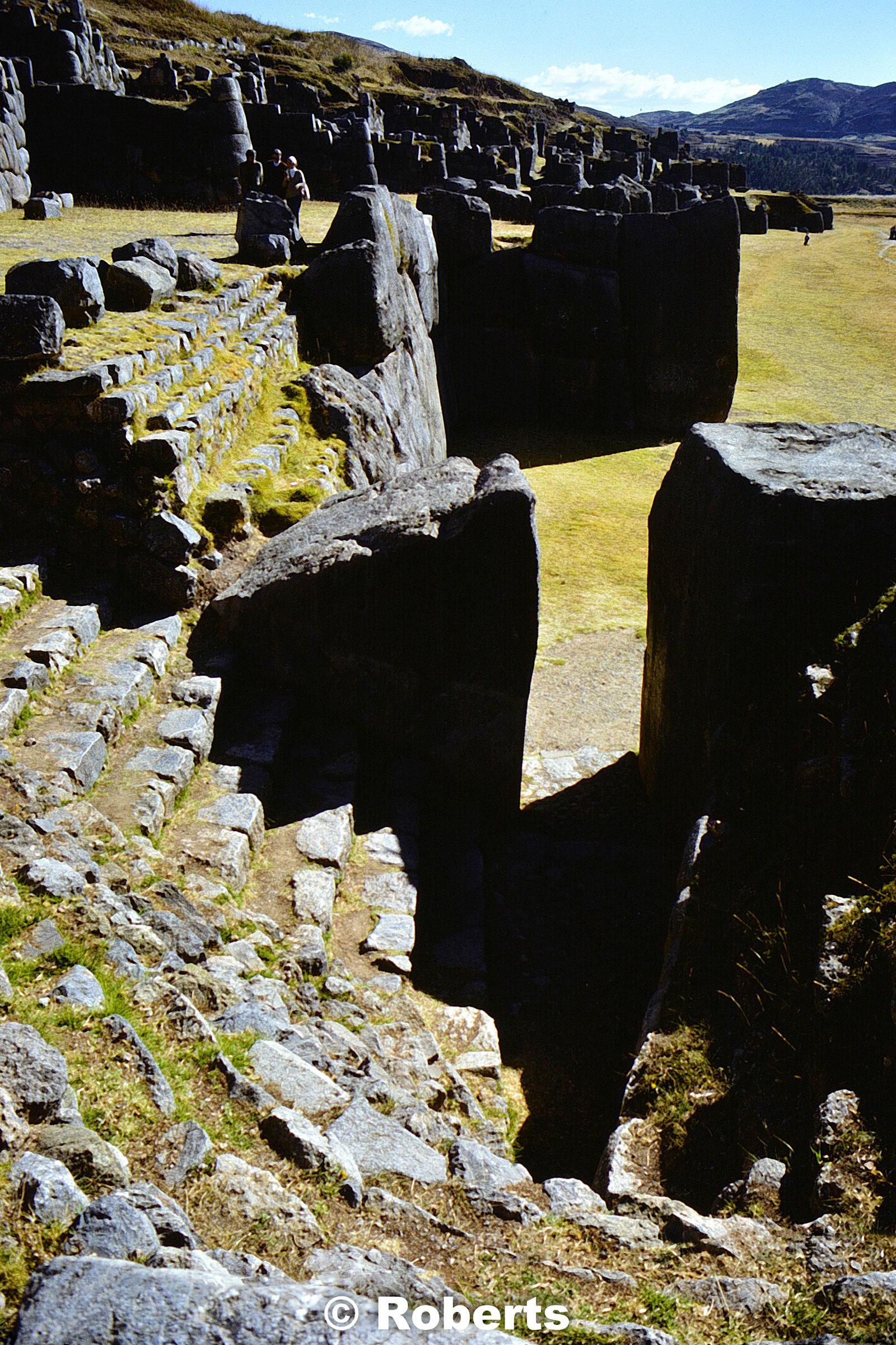 Sacsayhmaman archaeological site. Cusco, Peru. June, 1977.