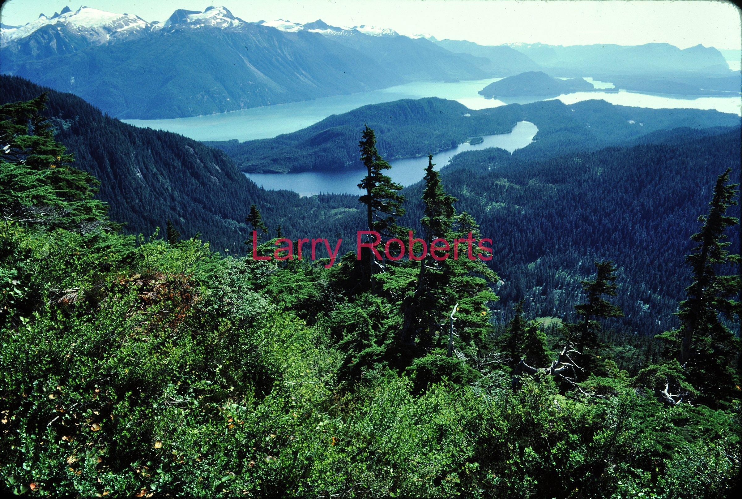 Spurt Lake and Thomas Bay, Southeast Alaska. August 1982.