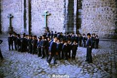 Boys Parochial School. Cusco, Peru. June, 1977.