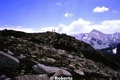 Donald Samuel and Ralph Brown above Tioga Pass, Yosemite National Park, California. Summer 1974