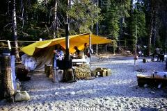 Illilouette Creek Trail Crew Camp. Yosemite National Park, California. July, 1976.