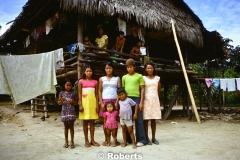 Family Portrait, Upper Amazon River Basin, Peru. June, 1977.