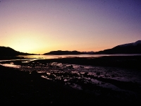 Sunset, Endicott Arm of Stephens Passage, Alaska. May 1979.