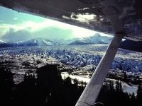 Hole-in-the-wall & Taku Glaciers, Taku River Drainage, Alaska. May 1979.