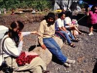 Owen James, Kake Culture Camp, Kake, Alaska. August 1994.