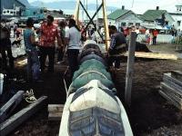 Totem Poles Dedication, Wrangell, Alaska. July 1987.